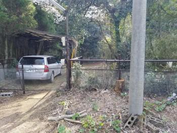車庫(敷地入口)