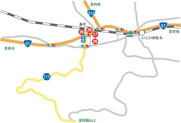 坊中地区AED位置図