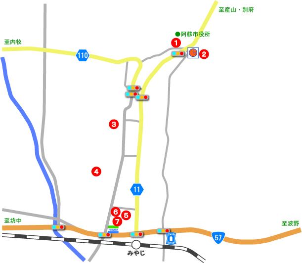 宮地地区AED位置図
