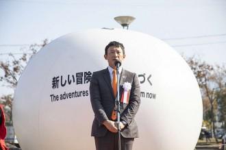 挨拶する小野熊本県副知事