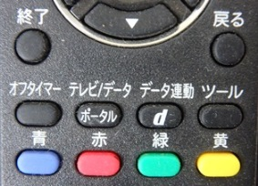 テレビのリモコン画像