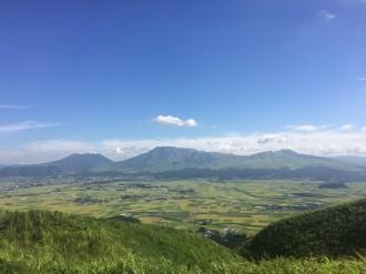 大観峰からの阿蘇五岳