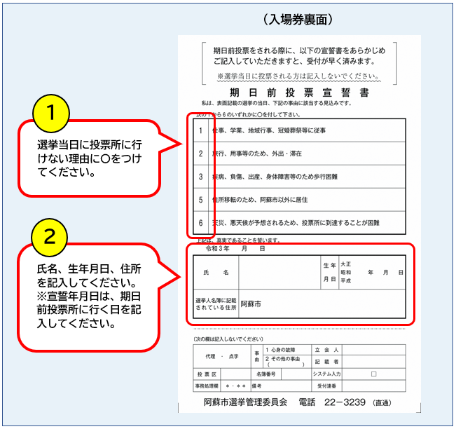 宣誓書の記入方法